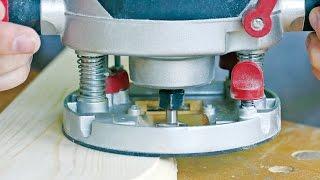 Настройка ручного фрезера по глубине