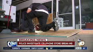 Break-ins at 3 San Diego cell phone stores under investigation
