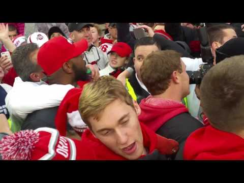 Sweet Caroline after the Ohio State win over Michigan