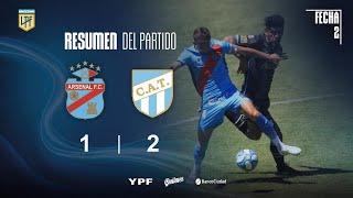 Copa Liga Profesional | Fecha 2 | resumen de Arsenal - Atlético Tucumán