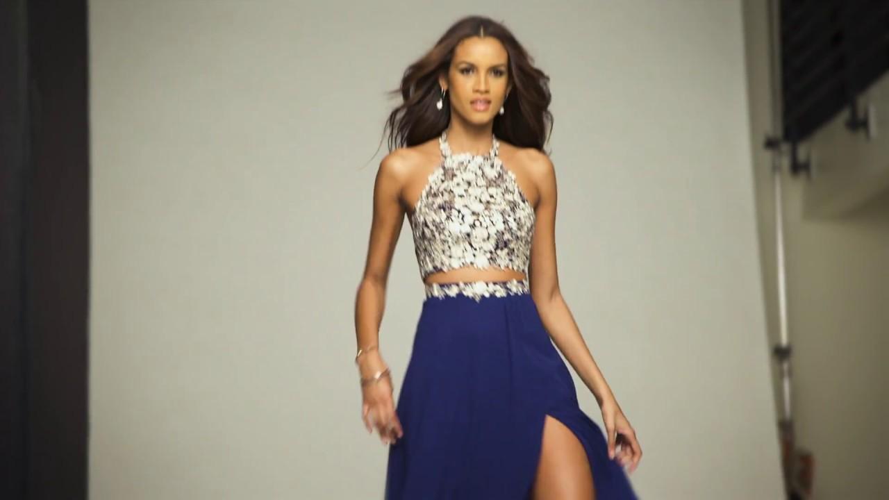 adc14e9873bf8 Faviana 7716 Two Piece Prom Dress - YouTube