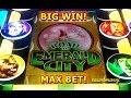 Wizard of Oz - Road to Emerald City - MAX BET! - BIG WIN! - Slot Machine Bonus