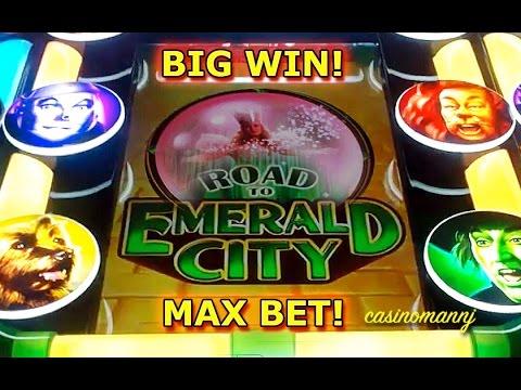 Wizard of Oz - Road to Emerald City - MAX BET! - BIG WIN! - Slot Machine Bonus - 동영상