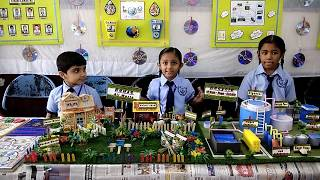 Science Project | Electricity From Biogas | Concept - 3 R's - Reduce Reuse Recycle  - WORKING MODEL