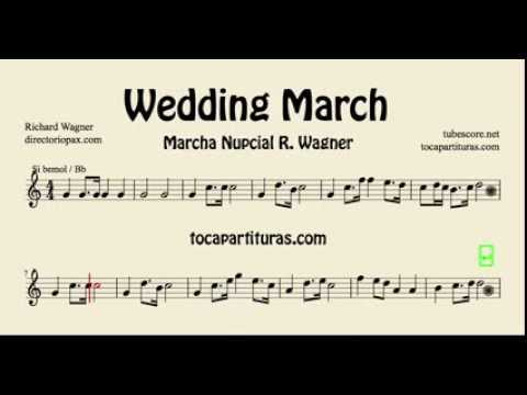 Wedding March Wagner Sheet Music For Trumpet Clarinet Tenor