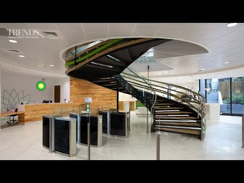 Modern Office Fit-out For BP With Central Spiral Staircase