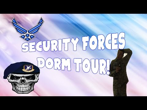 Security Forces Dorm Tour (Im Back From Basic!)