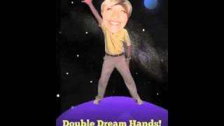 Ellen DeGeneres bobbles over Double Dream Hands!