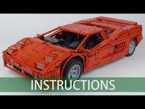 LEGO Technic Cizeta V16T Building Instructions