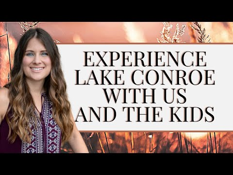 EXPLORE LAKE CONROE WITH US AND THE KIDS ON OUR NEW BOAT! | CONROE, TX