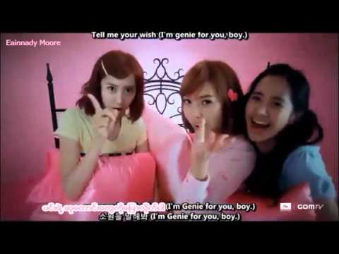 Girls Generation Tell Me Your Wish Genie myanmar sub