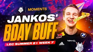 Jankos Birthday Buff | LEC 2021 Summer Week 7 Moments
