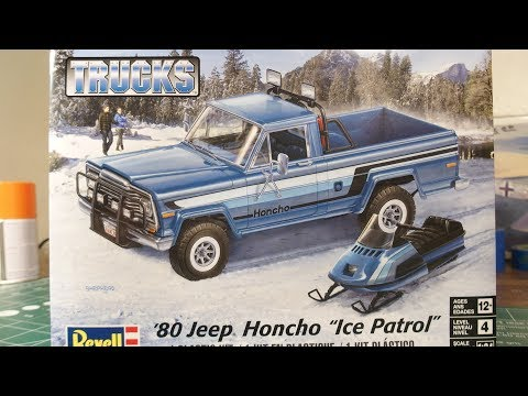 """`80 JEEP Hancho """"Ice Patrol"""" by REVELL unboxing Review"""