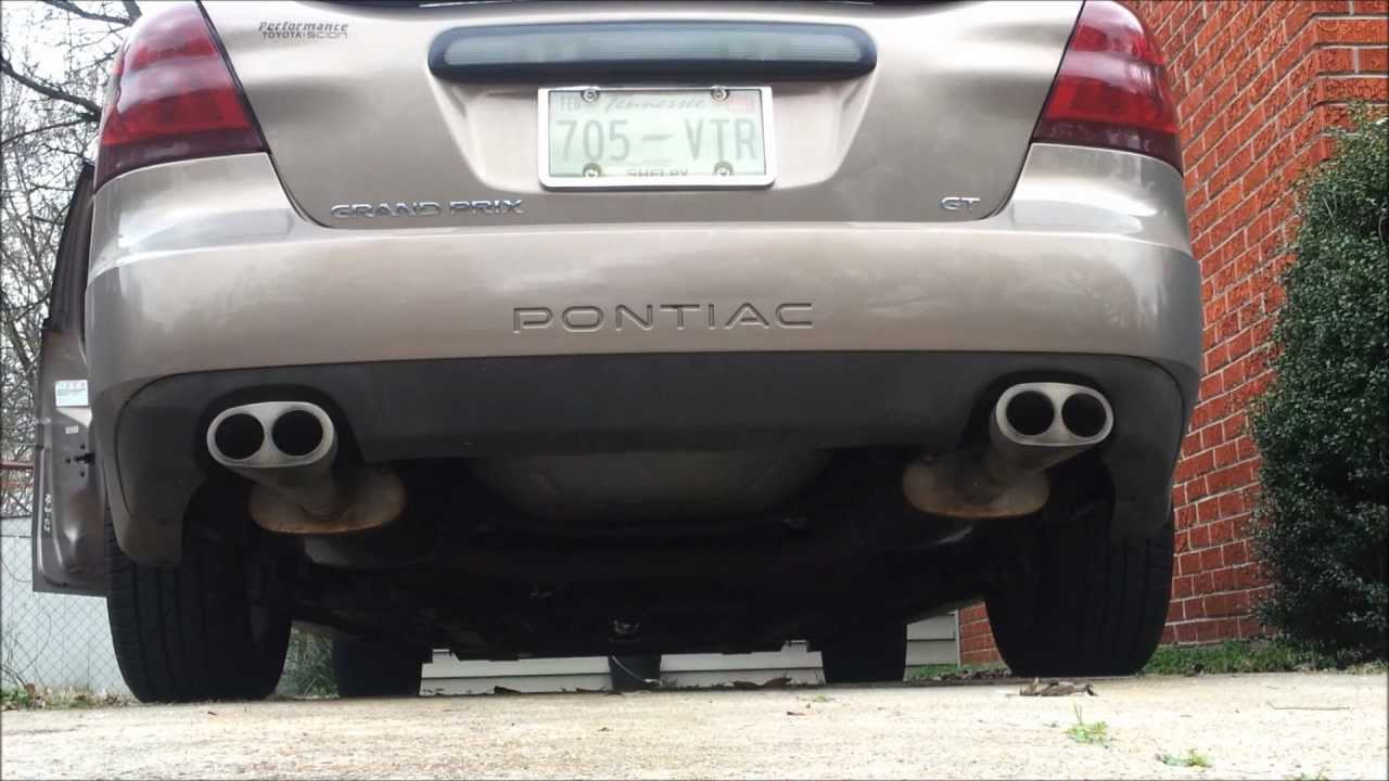 06    Grand    Prix GT stock vs Magnaflow mufflers  YouTube