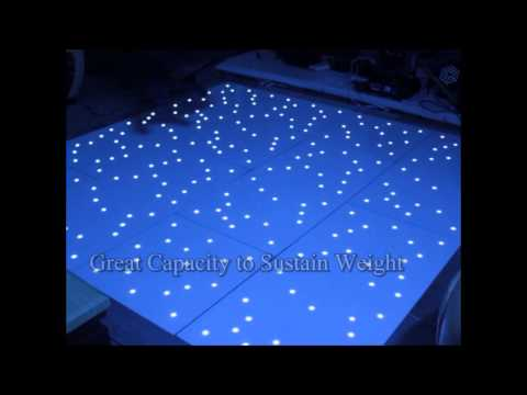 DHgate Waterproof LED Twinkling Dance Floor Black & White  Acrylic + Wood + Aluminum Dance Floor