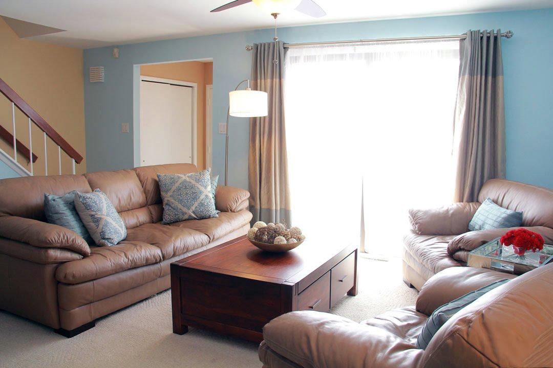 blue green living room - youtube