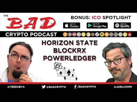 ICO Spotlight - Horizon State, BlockRx and Power Ledger