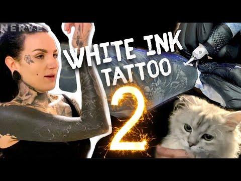 White Ink On Black Tattoo | Session 2 | VLOG & Kittens