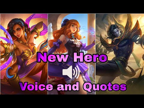 New Hero Voice And Quotes Esmeralda, Guinevere, Khufra - Mobile Legends Bang Bang