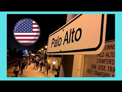 Downtown beautiful PALO ALTO at night, California (USA)
