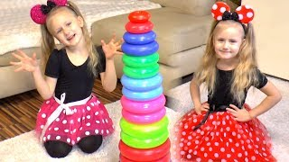 Learn Colors with Stacking Rings | Finger Family Songs for Children #1