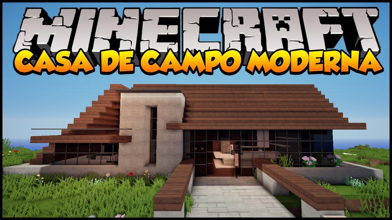 Minecraft mapas casa de campo moderna iris youtube for Casa moderna en el campo