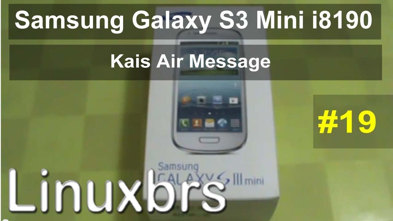 Samsung Galaxy S3 Mini i8190 - Review - Kies Air Message - PT-BR