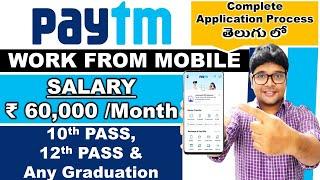 Paytm Recruitment 2021   Work From Mobile Jobs   Paytm jobs in Telugu   Part time jobs  V the Techee