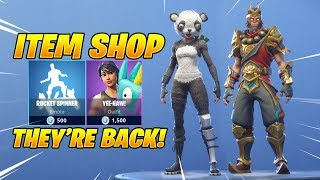 P.A.N.D.A TEAM LEADER & WUKONG SKINS ARE BACK! Fortnite Item Shop February 6, 2019