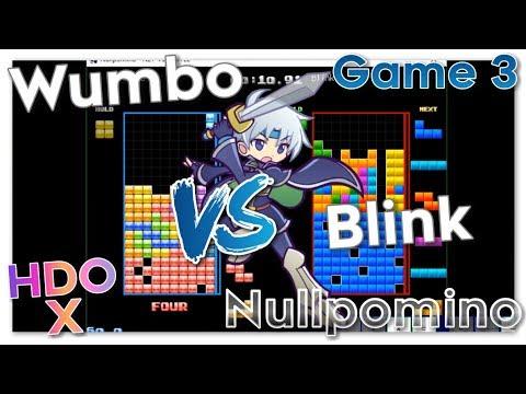 Wumbo vs Blink HDO X - Nullpomino (Blockbox) Game 3