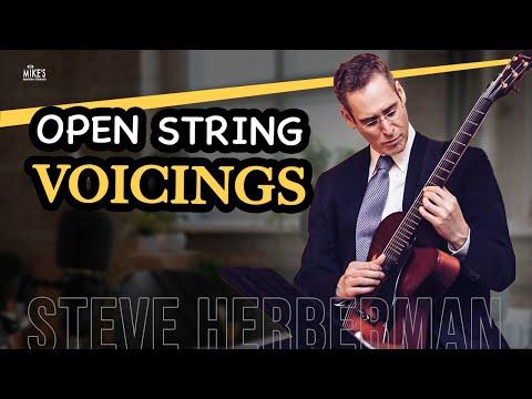 open string voicings for guitar (advanced jazz guitar lesson) | steve herberman
