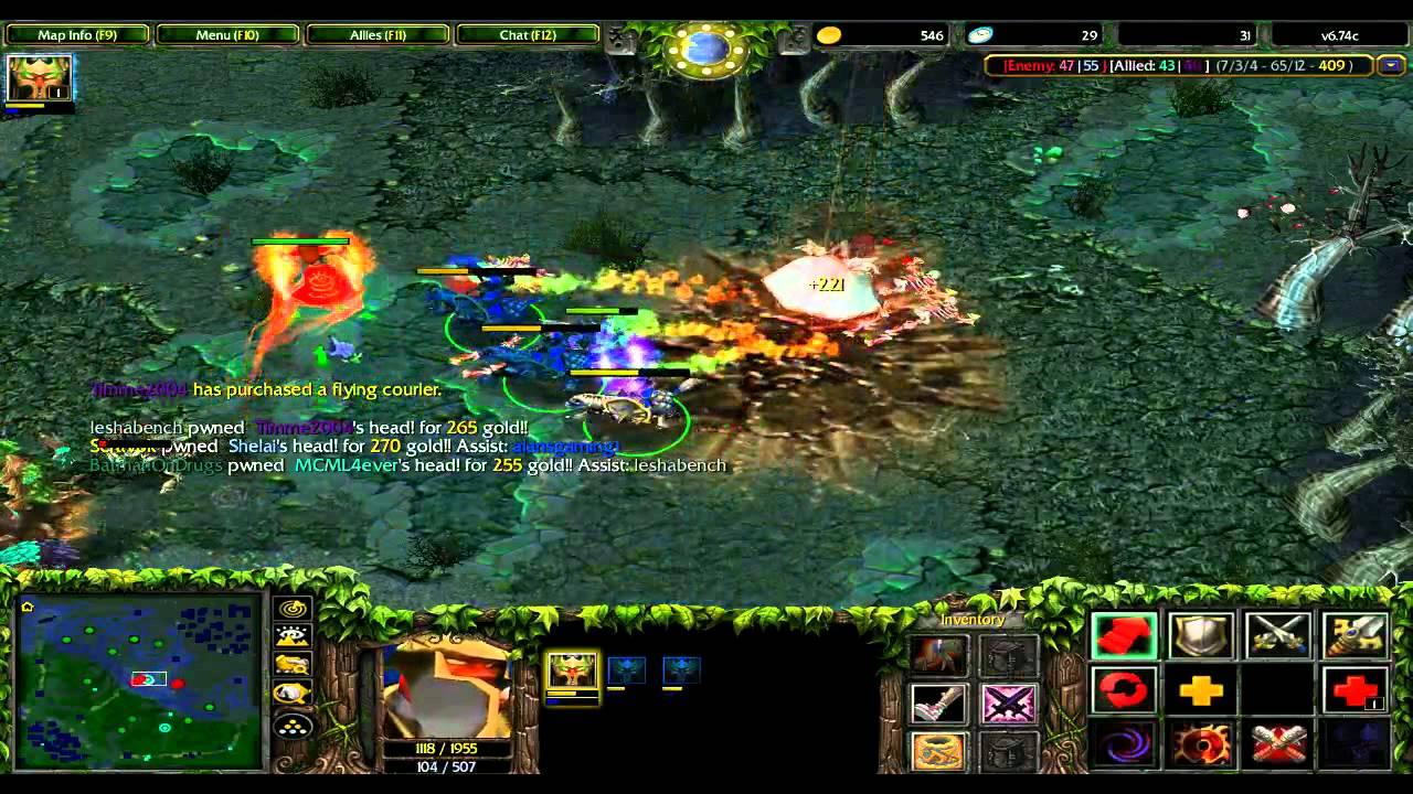 DotA 6.74c with Alan: Nessaj, Chaos Knight - YouTube