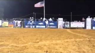 "Bullfighter Willie Cline Saves Cowboy From ""No-Man"