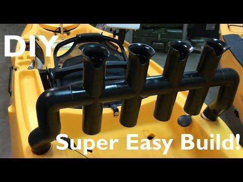 How To Build A PVC Rod Holder For Hobie Outback
