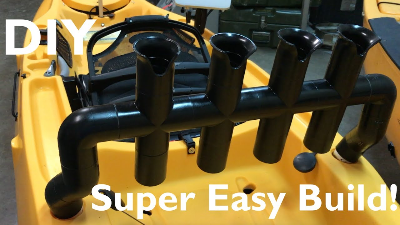 How To Build A Pvc Rod Holder For Hobie Outback Youtube