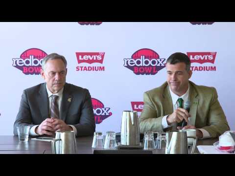 2018 Redbox Bowl Coaches:  Mark Dantonio & Mario Cristobal!