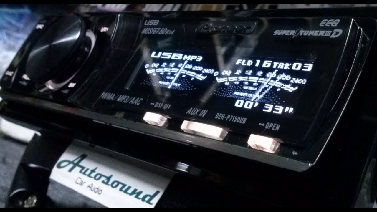Pioneer DEH-P7150UB Radio CD USB AUX Tela OEL tipo \