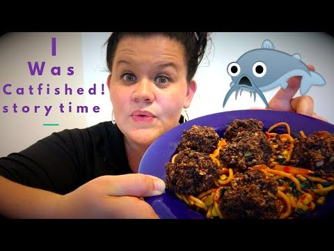 I was CATFISHED!!  Vegetarian Spaghetti and BEAN balls