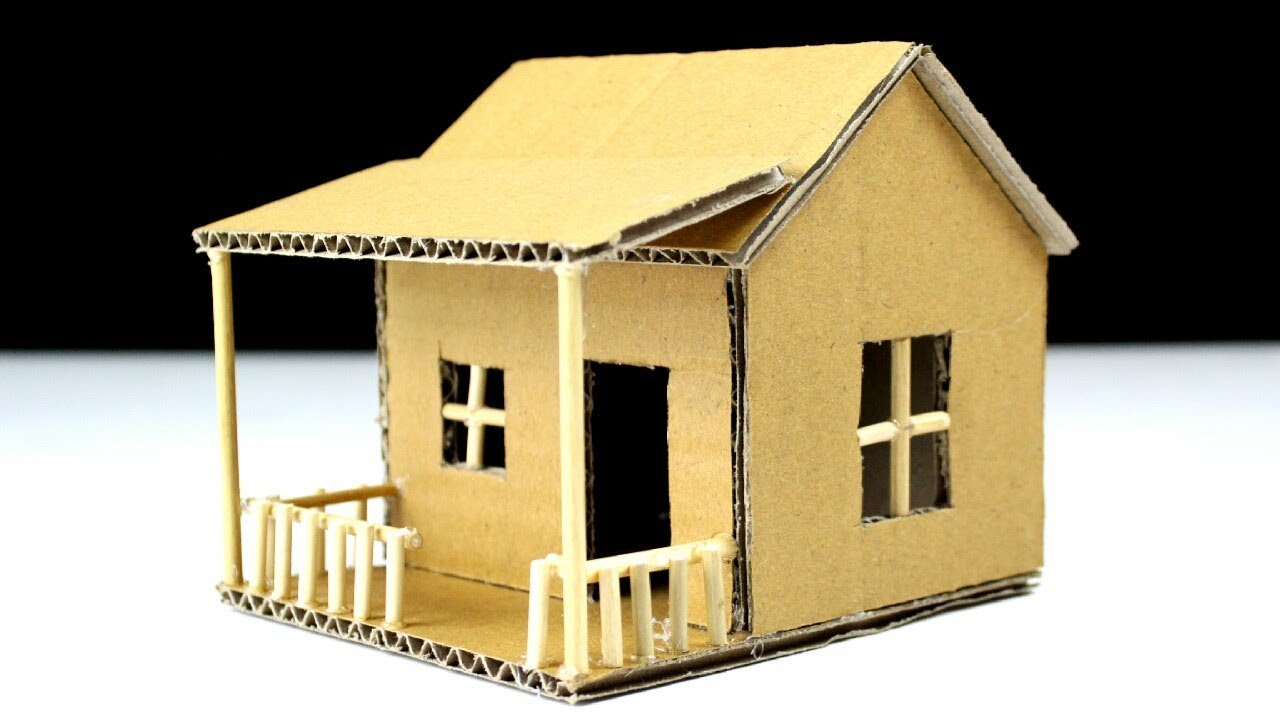 how to make a small cardboard house beautiful easy way