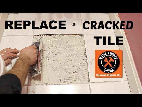 how to replace a cracked tile