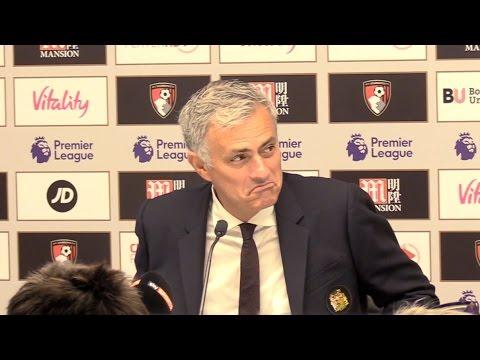 Bournemouth 1-3 Manchester United - Jose Mourinho Full Post Match Press Conference