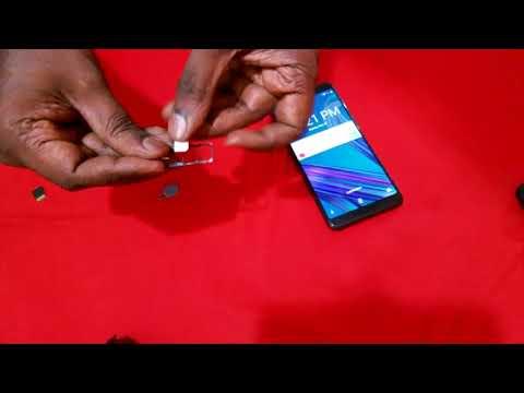 Asus Zenfone Max Pro M1: Insert SIM Card And  Microsd Card