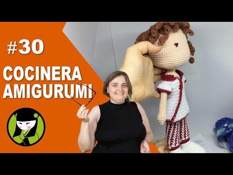 COCINERA AGUMIRUMIS 30 mangas tejidas al crochet