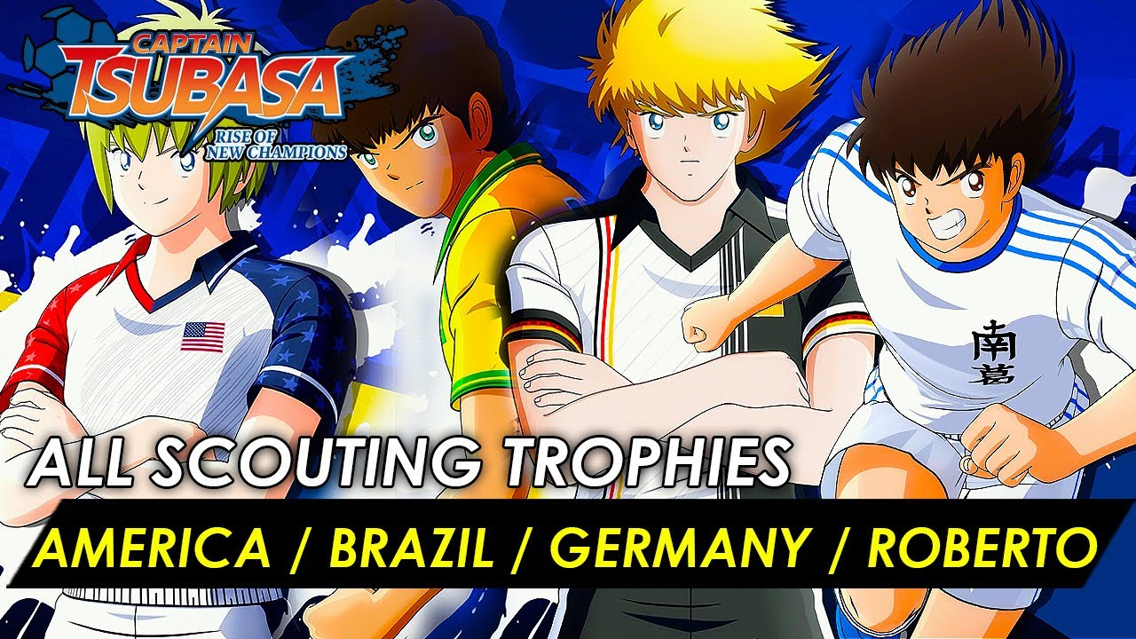 Captain Tsubasa - How to get scouted by Brazil/ America/ Germany/ Roberto (Scouting Trophy Detailed)