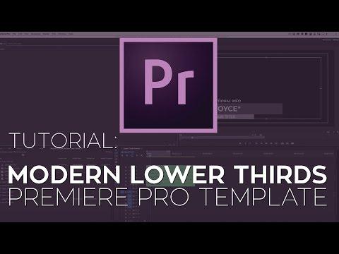 Rampant Modern Lower Thirds Premiere Pro Template Tutorial