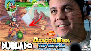 (VOCÊ NÃO VAI ACREDITAR!) SAIU DRAGON BALL TAP BATTLE DUBLADO EM PORTUGUÊS PARA QUALQUER ANDROID