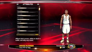 NBA 2K13 MyCAREER - Creation Of Marquise Diggins Scoring SG Ep.1