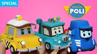 Transformed into clay♥ Friends became so soft! | Friends of Robocar POLI | Gony's Claytown