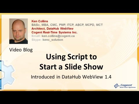 Using Script To Start A Slide Show