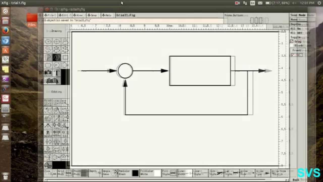 Tutorial On Graphics Using Xfig In Linux Ubuntu June 2015 Youtube Process Flow Diagram